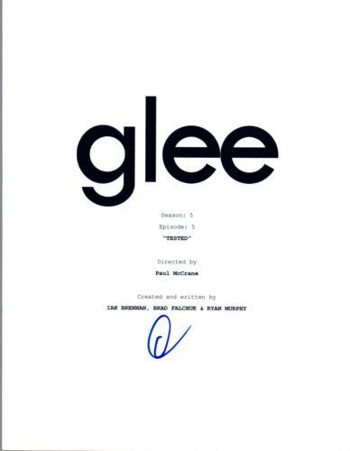 "Darren Criss Signed Autographed GLEE S5E5  ""Tested"" Script Transcript COA VD"