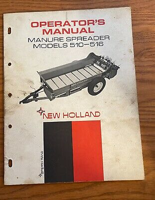 Sperry New Holland Operators Manual Manure Spreader 510-516 Operators Manual
