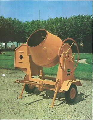 Equipment Brochure - Robur Bl20 Et Al Betonniere Cement Mixer French Lange4476