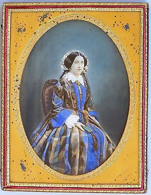 Mid 1850's Hand Colored Ambrotype Full Plate, Charles Fredericks, Jeremy Gurney
