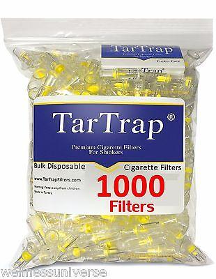 TarTrap Bulk Disposable Cigarette Filters Pack (1000 Filters), Tarbar It Now