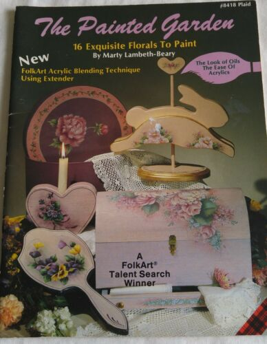 Decorative Painting Pattern Book THE PAINTED GARDEN 8418 by Marty Lambeth-Beary