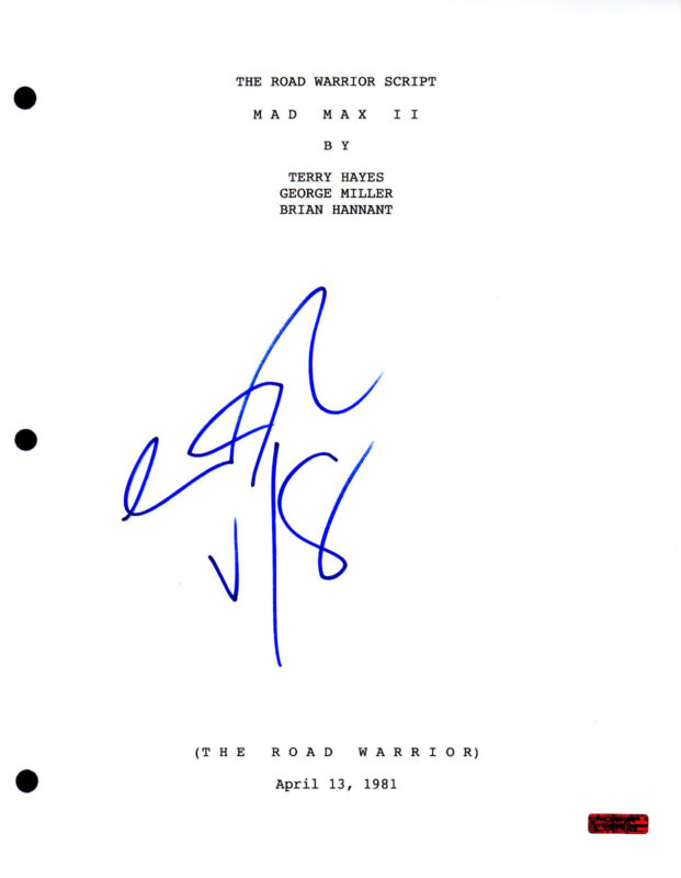 GFA The Road Warrior * GEORGE MILLER * Signed Full Movie Script PROOF AD1 COA