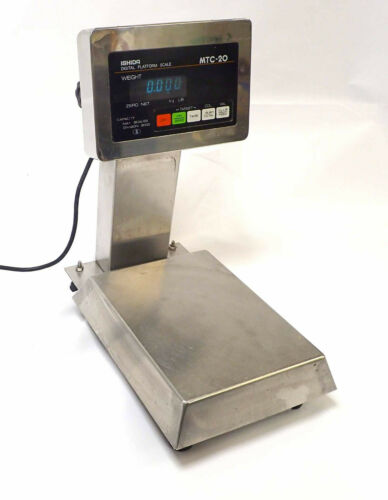 ISHIDA DIGITAL PLATFORM SCALE MTC-20, 6 LB CAPACITY 115-120VAC,50/60 Hz TESTED!