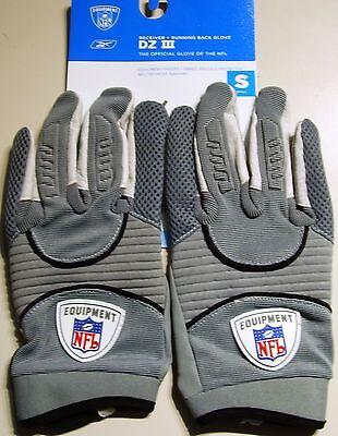 Reebok NFL Football Handschuhe DZ III COL, Gr.S, grau Receiver +  RB