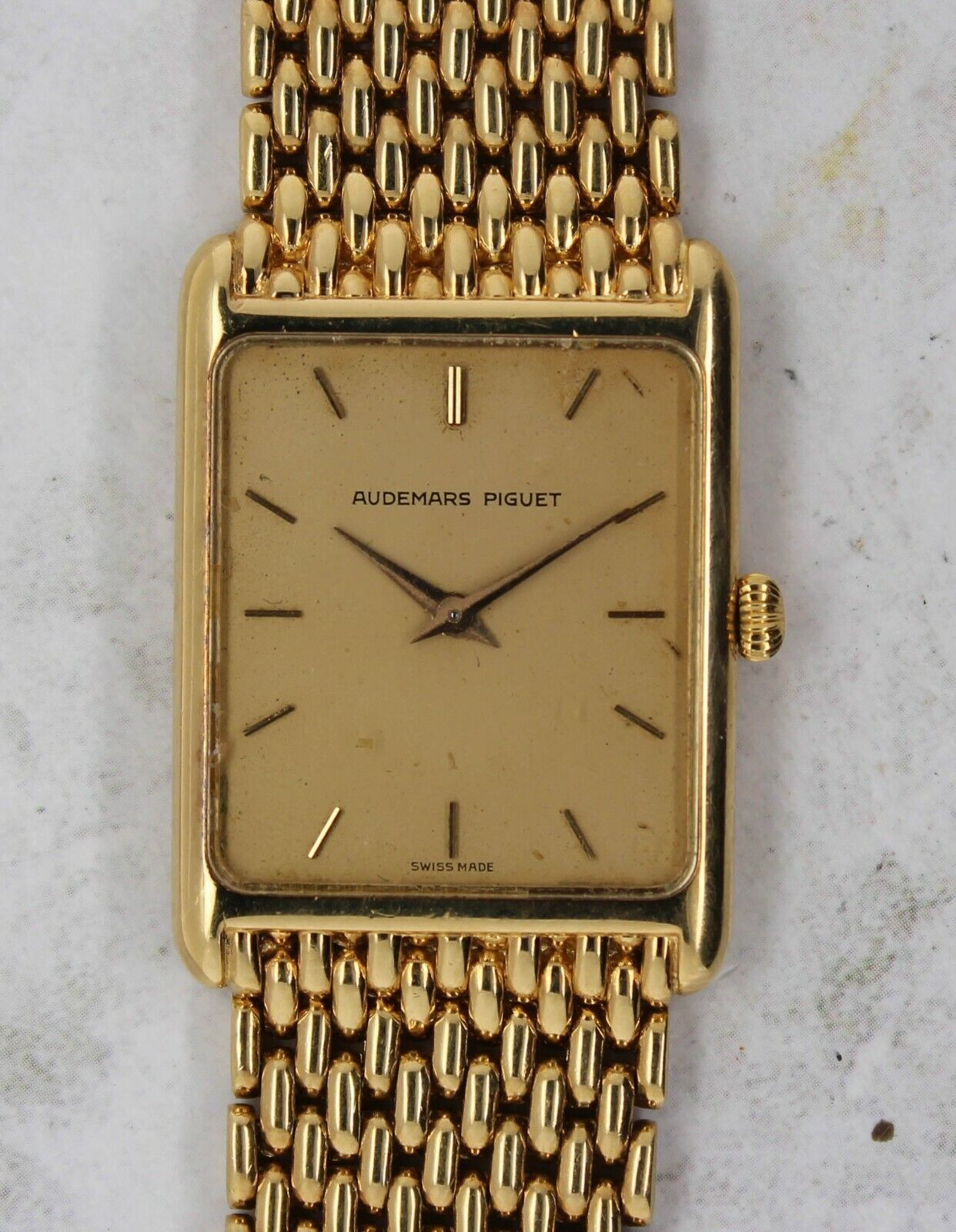 Vintage Audemars Piguet Time Only Dress Wristwatch 18kt Yellow Gold RARE NR - watch picture 1