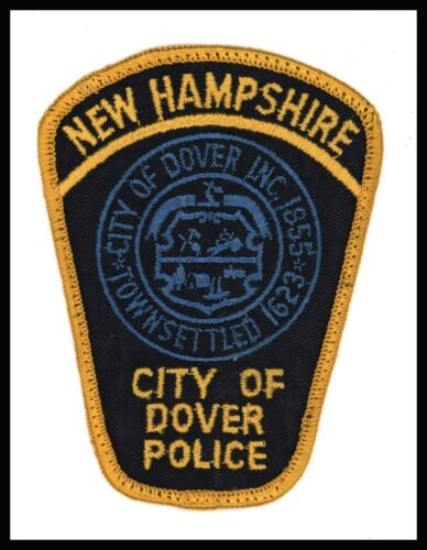 """City of Dover New Hampshire Police 3"""" x 4"""" Cheese Cloth Back Police Patch"""