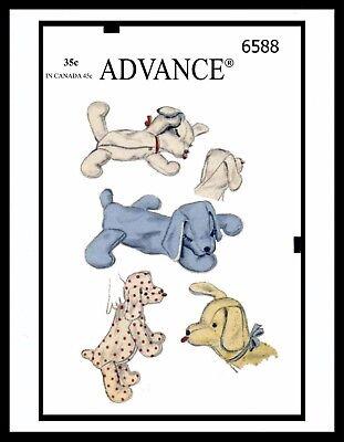 Advance 6588 Stuffed Animal Pattern Sleeping PUPPY Dog TOY GIRL BOY Child KIDS