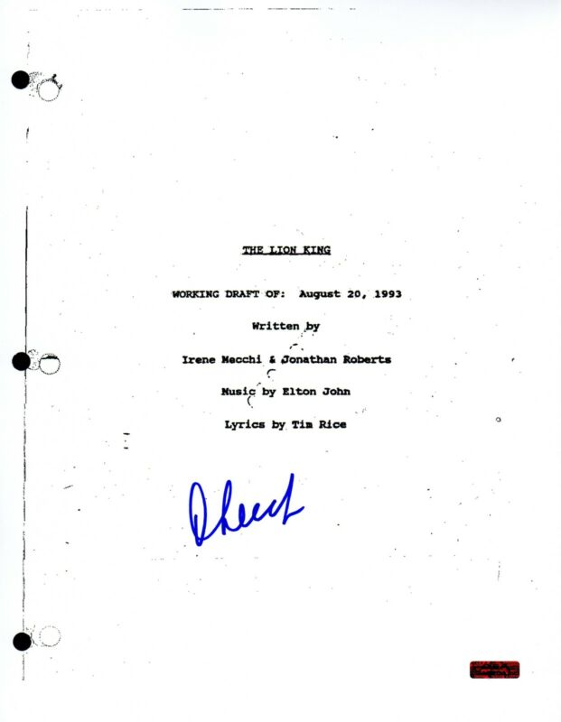 GFA The Lion King Movie * CHEECH MARIN * Signed Full Page Script COA