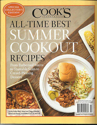COOK'S ILLUSTRATED MAGAZINE, HALL-TIME BEST SUMMER COOKOUT RECIPES,  ISSUE,
