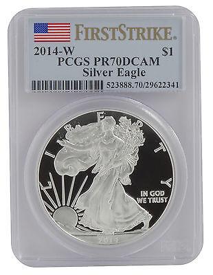 2014-W 1oz Proof American Silver Eagle PR70 PCGS First Strike