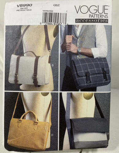 Vogue Patterns V8990 0SZ Four Messenger Bags, Multi-Color - $19.99