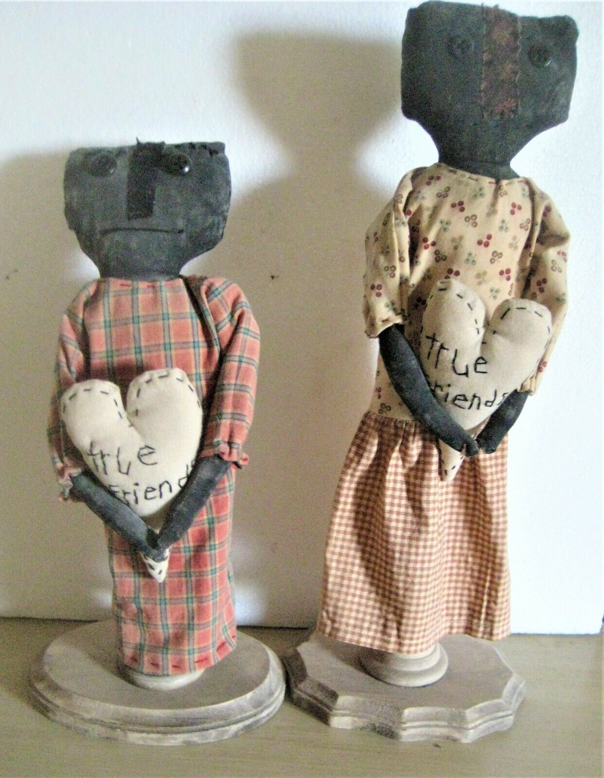 Outsider Art - A Pair Of One-of-a-Kind Fabric Doll Constructions - $45.00