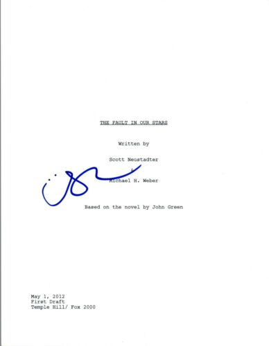 Shailene Woodley Signed Autographed THE FAULT IN OUR STARS Script COA VD