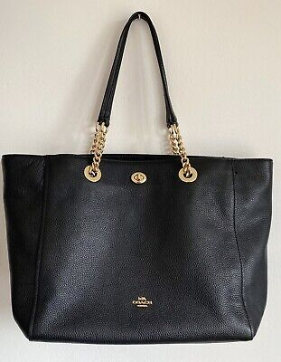 COACH New York - Black Leather Tote Bag
