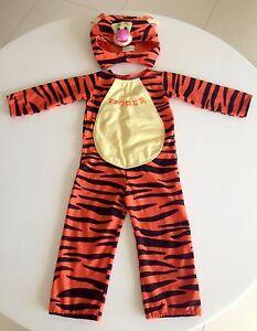 Kids Halloween Dress-up Costume ORANGE TIGER Disney Tigger Coorparoo Brisbane South East Preview
