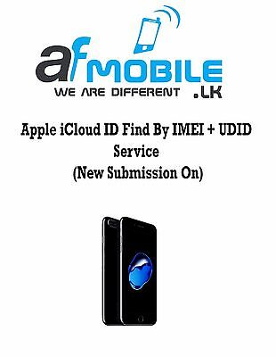 Apple Icloud Id Find By Imei   Udid Service  New Submission On