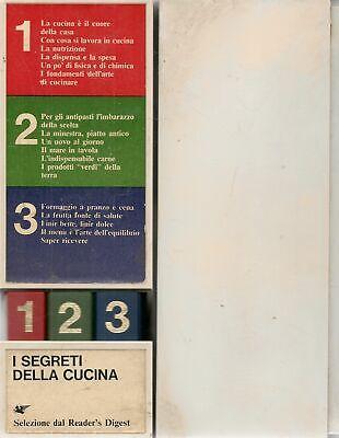 I SEGRETI DELLA CUCINA-SELEZIONE DAL READER'S DIGEST - 3 VOL. COFANETTO ORGINALE