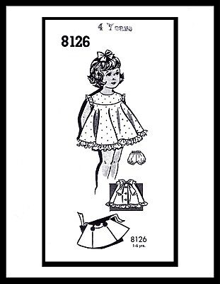 DRESS FROCK & Panties Pattern BABY GIRL Child KIDS PATT-O-RAMA # 8126 ~~4~~ for sale  Shipping to India