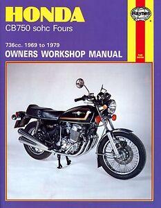 honda cb750 manual ebay rh ebay com Honda CB750 Chopper Honda CB450