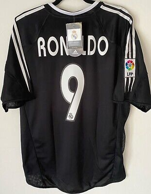 Réal Madrid Third 2004 2005 Ronaldo FootballShirt Camiseta Maglietta New L