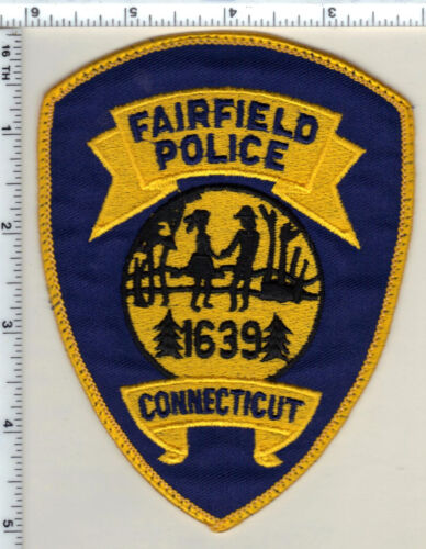 Fairfield Police (Connecticut) Uniform Take-Off Shoulder Patch from 1989