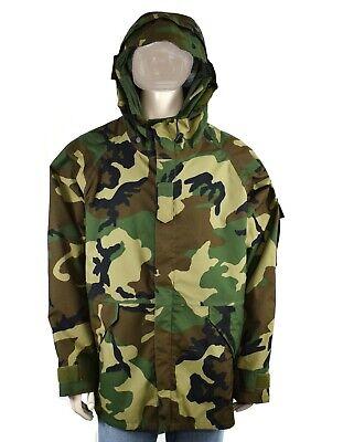 Woodland Nylon Parka - Military Woodland Camo Parka Jacket Mens L Large Regular Nylon Taslan Waterproof
