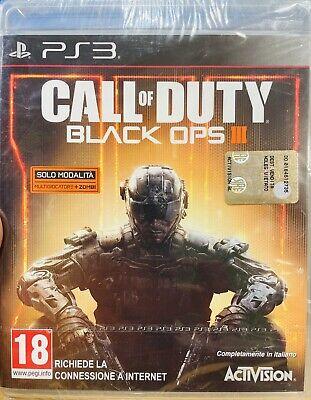 CALL of DUTY BLACK OPS III ITALIANO PLAYSTATION 3 NUOVO DI ZECCA...