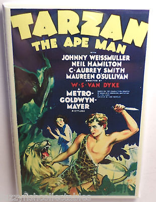 Tarzan The Ape Man Movie Poster 2  X 3  Refrigerator Locker Magnet