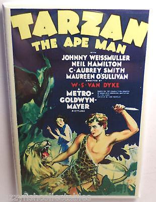 Tarzan The Ape Man Movie Poster 2  X 3  Refrigerator Locker Magnet