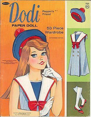 VINTAGE UNCUT 1960S DODI PAPER DOLLS HD~LASER REPRODUCTION~LO PR~Hi QUAL~RARE
