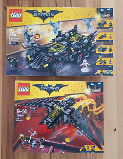 Lego 70917 +70916 ,Ultimate Batmobile + Batwing NEW Batman Movie