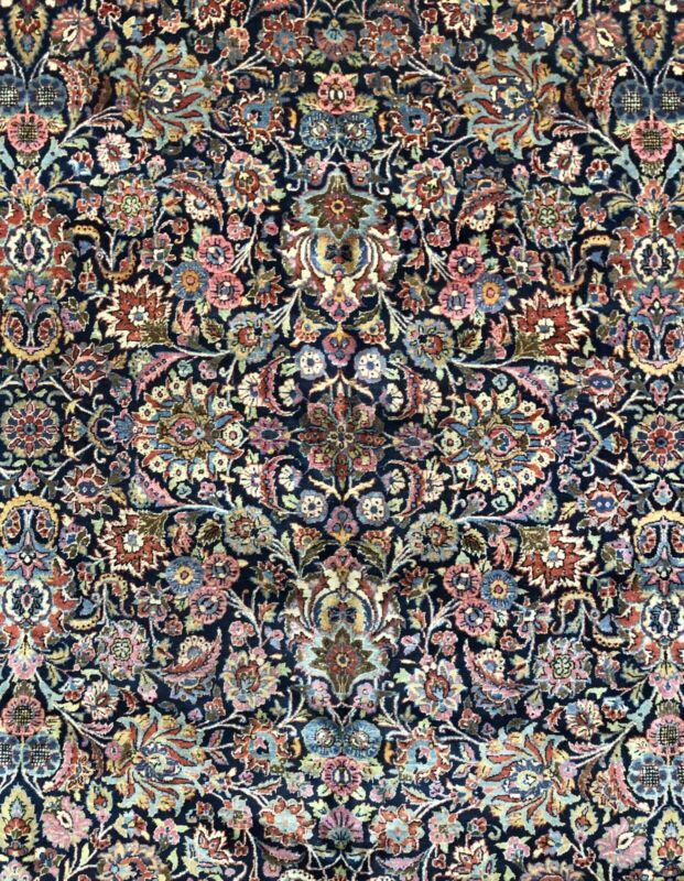Dashing Dabir - 1920s Antique Oriental Rug - Floral Carpet - 10.5 X 17.1 Ft