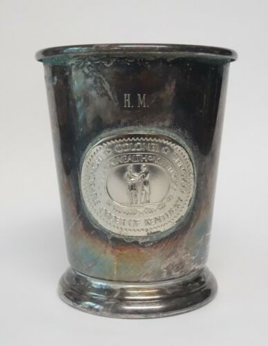 Vintage Sheridan E.P. Brass Mint Julep Cup Honorary Order Of Kentucky Colonels