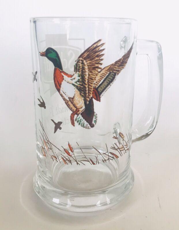 Schmidt Beer Collectors Series Mallard Duck Glass Mug Stien