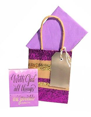 - Bonnie Marcus 20476 Gold Foil Gem With God All Things Are Possible Notepad