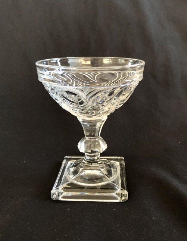 """1 Vintage Heisey Glass #1405 Ipswich 5 oz. Saucer Champagne 4 5/8"""""""