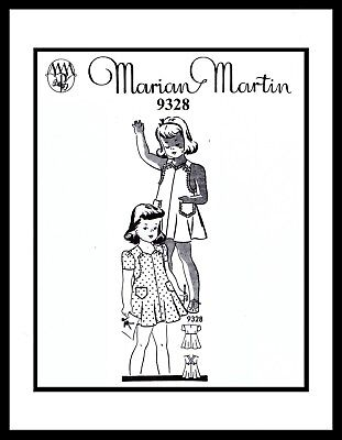 Sunsuit Playsuit Pattern BABY GIRL Child KIDS Dress Frock MARION MARTIN 9328 ~2~ for sale  Shipping to India