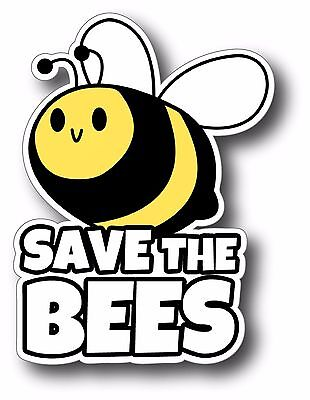 SAVE THE BEES Honeybees Decal (Save The Honey Bees Sticker)