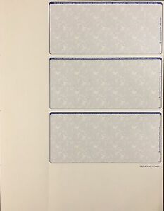 50 pages of Blank Checks -- 150 checks total Personal Size, Small  Blue or Green