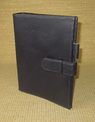 Classic Collins Black Leather 1 Rings Open Plannerbinder Fits Franklin Covey