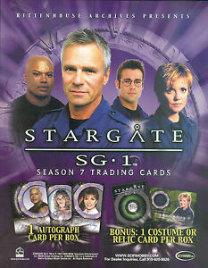 STARGATE-SG-1-SEASON-7-2005-RITTENHOUSE-ARCHIVES-PROMOTIONAL-SALE-SELL-SHEET
