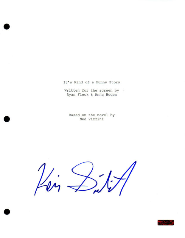 It's Kind of a Funny Story * KEIR GILCHRIST * Signed Full Movie Script AD1 COA