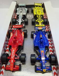4X  tolle Formel 1 Rennautos Rückziehauto * einmal mit Licht und Sound, 4 Farben
