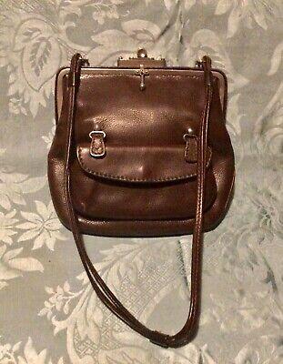 1920s Style Purses, Flapper Bags, Handbags VINTAGE Art Deco brown leather bag. 1920/30. $67.49 AT vintagedancer.com