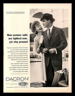 1950s Mens Suits & Sport Coats | 50s Suits & Blazers 1959 DuPont Dacron Polyester Fiber Vintage PRINT AD Men's Summer Suit 1950s $8.99 AT vintagedancer.com