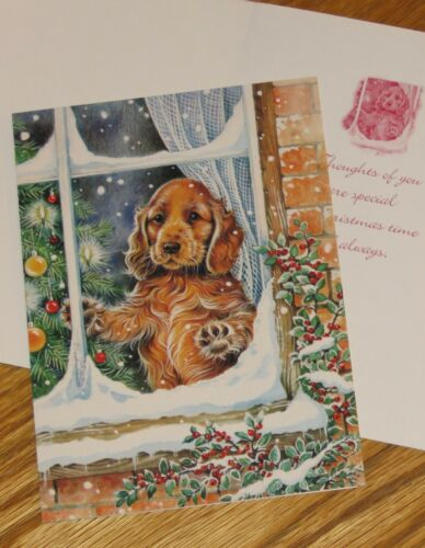 Vintage Dog Christmas Cards - Puppy In The Window - Paper Magic Group 10ct