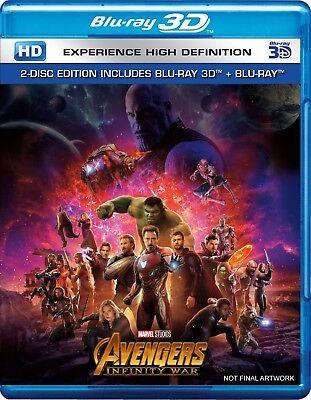 Avengers  Infinity War  Blu Ray 3D   Blu Ray   Region Free   2018   New