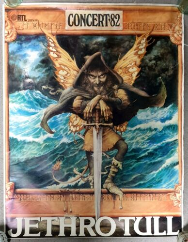 Jethro Tull Rare Original 1982 Promo tour concert Poster Ahoy 11-5-82 Rotterdam