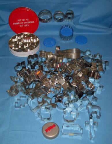 Huge Vtg Lot 80 Cookie Cutters Metal Christmas/Holidays/Animals/KS/Cross & More!